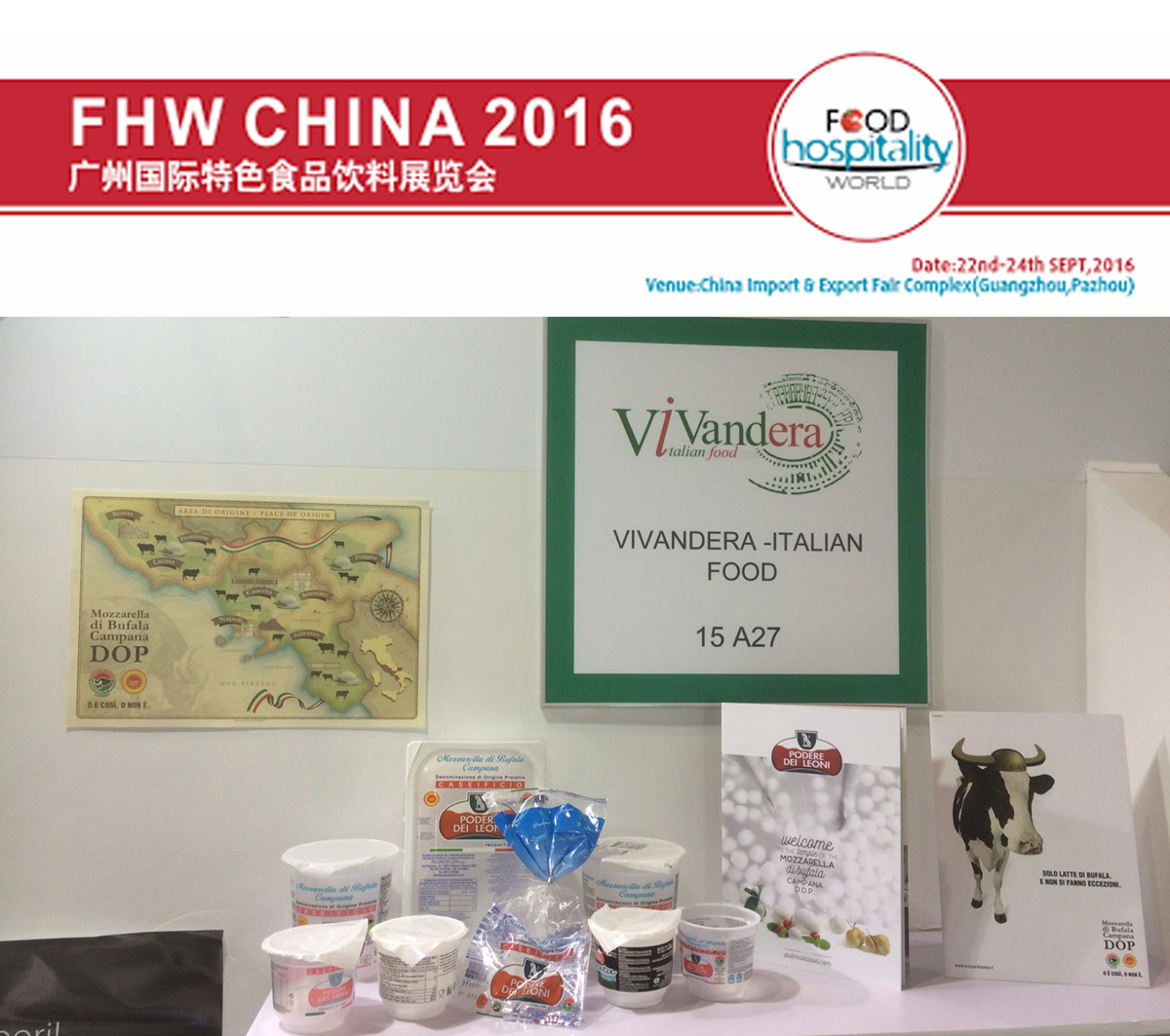 Il Podere dei Leoni al Food Hospitality World China 2016